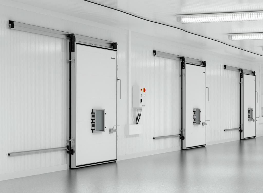 Откатная дверь для камер с регулируемой газовой средой