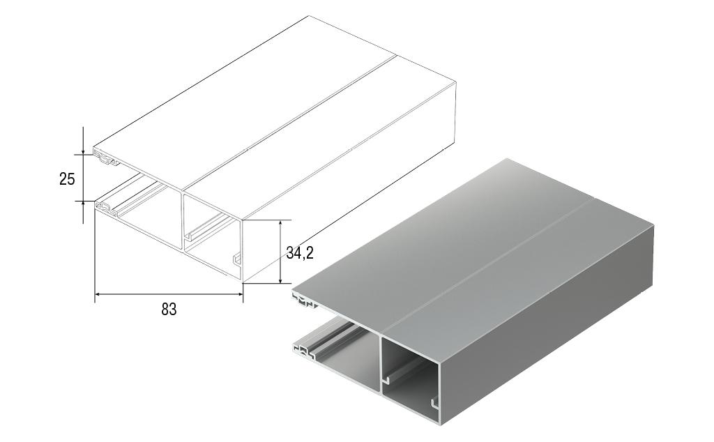 Новый облегченный направляющий профиль RG83MS для рольворот