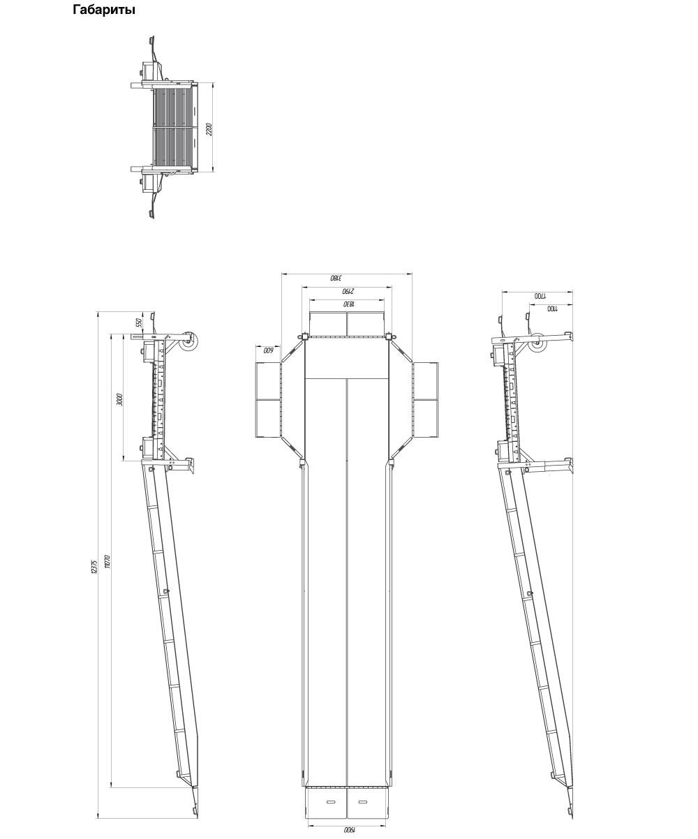 Мобильная рампа с трехсторонней загрузкой